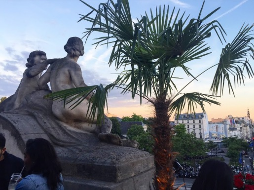 The beautiful sunset from Gare de L'est
